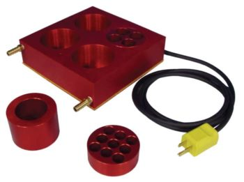 Heated And Cooled Block With Inserts To Fit A Selection Of Vial Sizes
