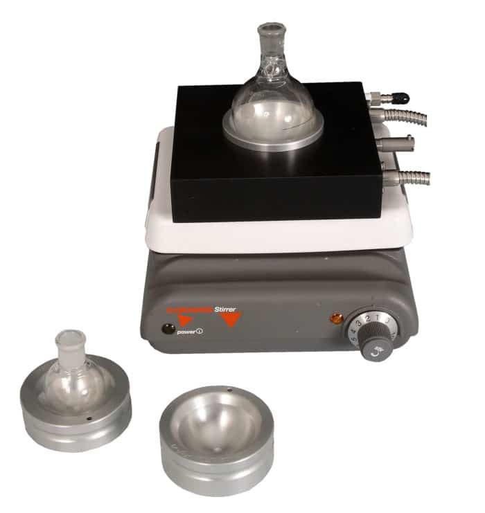 Heated And Cooled Block To Fit Round-bottom Flask Inserts For 25-100ml Flasks