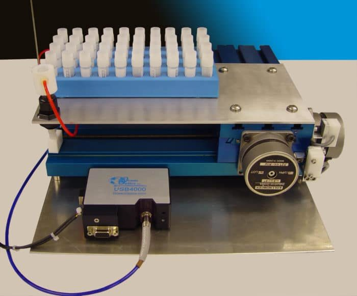 Miniature X-, Y- Robot For Flow-cell Uv Spectroscopy